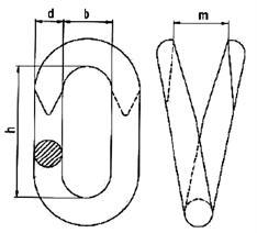 Соединитель цепей открытый 3мм оцинкованный