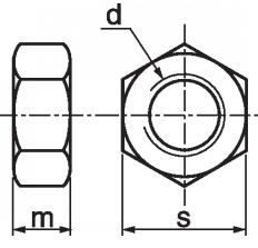 Гайка шестигранная М6 DIN 934, оцинкованная