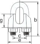 Зажим для троса (каната) 6 мм DIN 1142, стальной